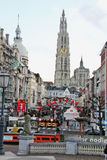 Stadt-Tag Antwerpen Stockfoto