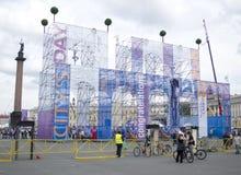 Stadt-Tag im St. Petersburg Lizenzfreie Stockfotografie