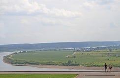 Stadt Tomsk Fluss-Toms fast Stockfotos