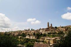Stadt in Toskana Stockfotografie