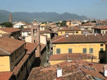 Stadt Toskana-Italien mit Kontrolltürmen Lizenzfreies Stockbild