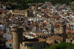 Stadt Tossa De-Mrz, Costa Brava, Spanien stockbilder