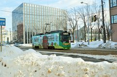 Stadt-Tram, Hakodate Hokkaido Japan Stockbild
