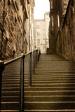 Stadt tritt Edinburgh Schottland Lizenzfreies Stockfoto