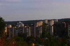 Stadt Truskavets stockbild