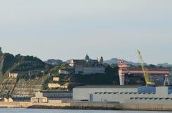 Stadt und Hafen Ancona, Italien lizenzfreie stockfotos