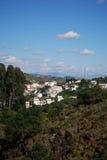 Stadt und Landschaft, Tolox, Spanien. Stockfotografie