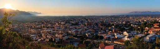 Stadt und Meer Abend Alcamo bellen, Sizilien, Italien Lizenzfreies Stockfoto