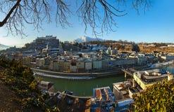 Stadt und Schloss Hohensalzburg - Salzburg Österreich Lizenzfreie Stockbilder