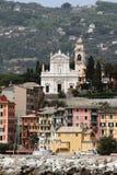 Stadt und Tempel Santa Margarita, Italien Lizenzfreie Stockfotos
