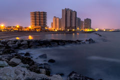 Stadt und Wasser Stockfotos