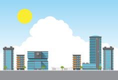 Stadt unter dem Sonnenschein Lizenzfreies Stockbild