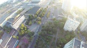 Stadt upview Stockfotografie