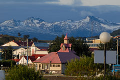 Stadt Ushuaia, Argentinien Lizenzfreies Stockbild