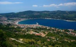 Stadt Vathi oder Samos Samos-Insel Griechenland stockbild
