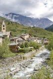 Stadt in Veltlin, Nord-Italien Stockbilder