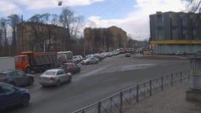 Stadt-Verkehrs-Zeitspanne stock video
