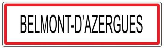 Stadt-Verkehrszeichenillustration Belmonts d Azergues in Frankreich Lizenzfreies Stockfoto