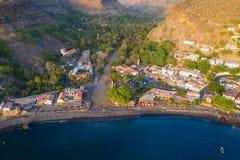 Stadt Vogelperspektive Cidade Velha in Santiago - Kap-Verde - Cabo Verde stockfotos
