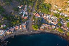 Stadt Vogelperspektive Cidade Velha in Santiago - Kap-Verde - Cabo Verde stockfoto