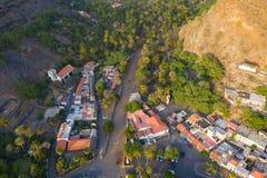 Stadt Vogelperspektive Cidade Velha in Santiago - Kap-Verde - Cabo Verde lizenzfreie stockfotos