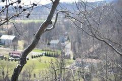 Stadt vom Berg Stockfoto