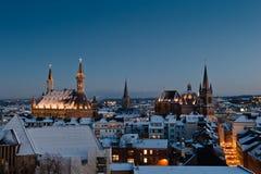Stadt von Aachen, Deutschland Stockfotos