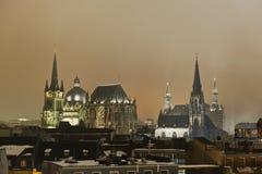 Stadt von Aachen, Deutschland Stockfotografie