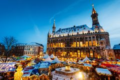 Stadt von Aachen, Deutschland Stockbild