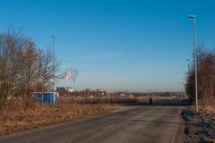 Stadt von Aalborg Dänemark lizenzfreies stockbild