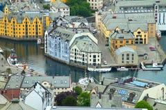 Stadt von Aalesund Stockfoto