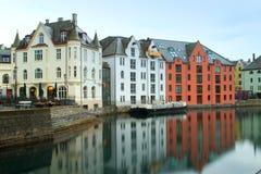 Stadt von Aalesund Lizenzfreie Stockbilder