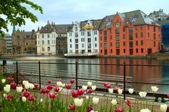 Stadt von Aalesund Stockfotos