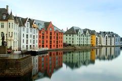 Stadt von Aalesund Lizenzfreies Stockbild