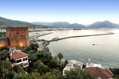Stadt von Alanya, die Türkei lizenzfreie stockfotos