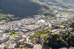 Stadt von Andorra-La Vella Stockfoto
