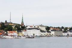 Stadt von Arendal Norwegen Stockfotografie