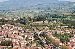 Stadt von Arezzo in Toskana - Italien lizenzfreies stockbild