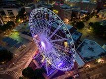 Stadt von Atlanta-Skylinen bei Sonnenaufgang lizenzfreie stockfotografie