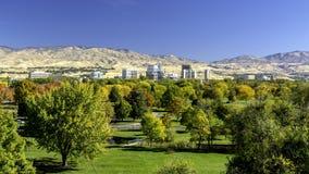 Stadt von Bäumen Boise Idaho in den Fallfarben stockbilder