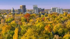 Stadt von Bäumen Boise Idaho im Fall lizenzfreies stockbild