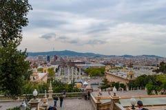 Stadt von Barcelona stockfoto