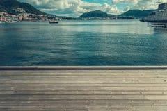 Stadt von Bergen Norway Marina stockfotografie