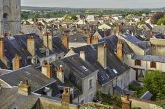 Stadt von Blois sah vom Schloss an Stockbilder