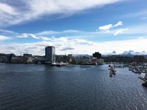 Stadt von Bodø, Nordland, Norwegen Lizenzfreies Stockbild
