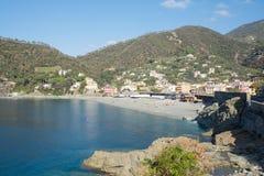 Stadt von Bonassola an der italienischen Küste Stockfotografie