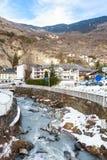 Stadt von Bräuten-les-Bains Abteilung von Savoie Lizenzfreie Stockfotos