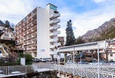 Stadt von Bräuten-les-Bains Abteilung von Savoie Stockfotografie