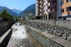 Stadt von Briga in der Schweiz Lizenzfreie Stockfotografie