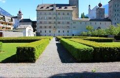 Stadt von Briga in der Schweiz Lizenzfreie Stockfotos